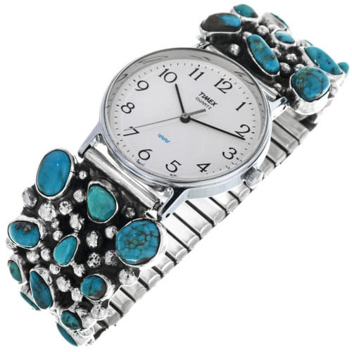 Vintage Natural Turquoise Navajo Watch 33212