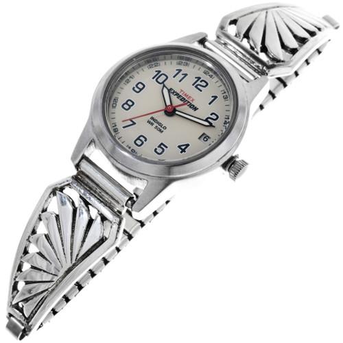 Vintage Navajo Sterling Silver Watch 33213