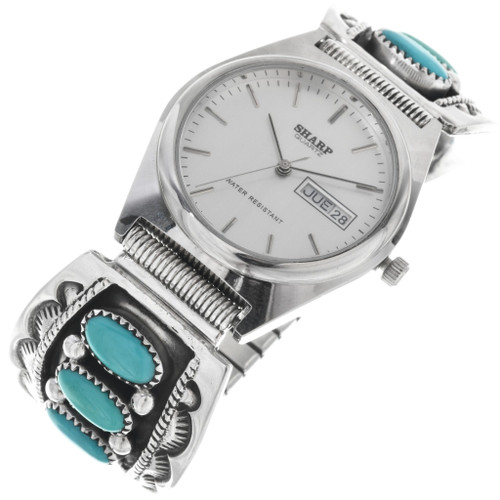 Vintage Navajo Turquoise Mens Watch 33215