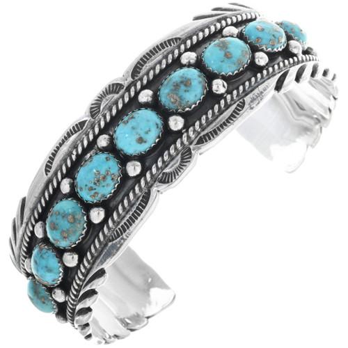 Navajo Turquoise Row Cuff 33222