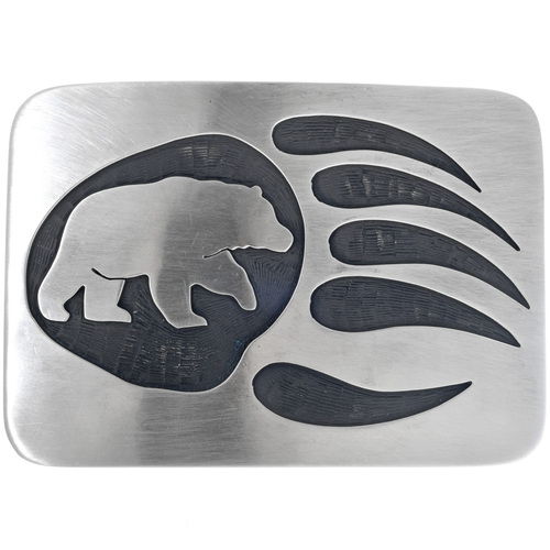 Hand Made Bear Paw Belt Buckle 33262