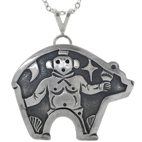 Sterling Silver Kachina Bear Pendant 33266