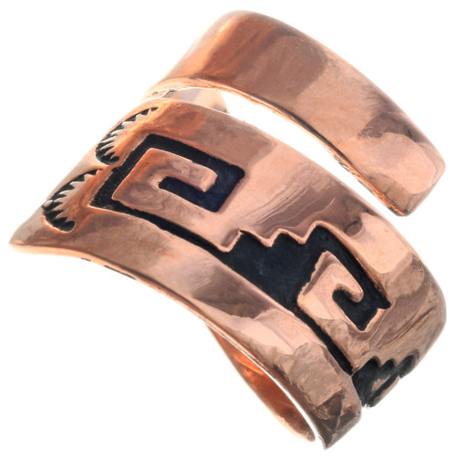 Navajo Overlaid Copper Ring 33287