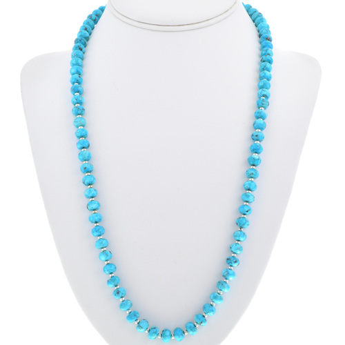 Navajo Turquoise Bead Necklace 33302