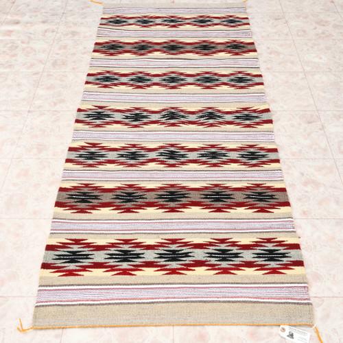 Hand Woven Natural Wool Navajo Rug 33306