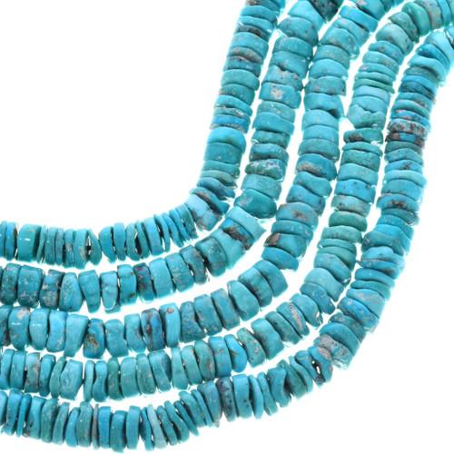 Turquoise Heishi Natural Kingman 32786