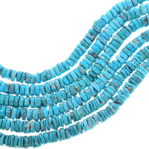 Natural Turquoise Heishi Beads 32787