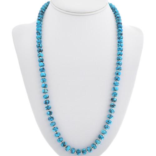 Spiderweb Turquoise Bead Necklace 33332