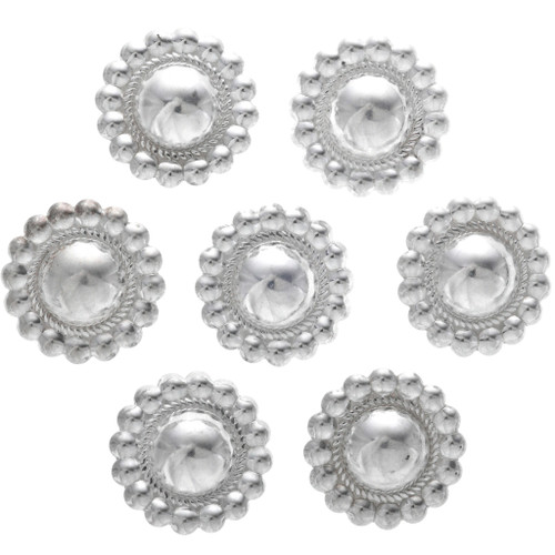 Navajo Sterling Silver Concho Buttons 33349