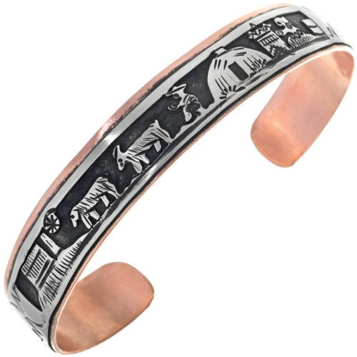 Copper Silver Storyteller Bracelet 33353