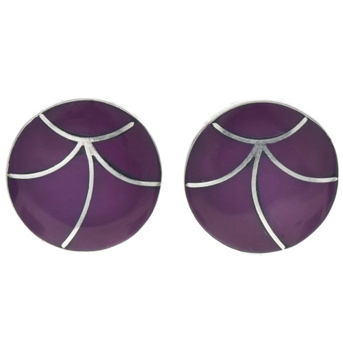 Pretty Purple Onyx Ladies Earrings 33361