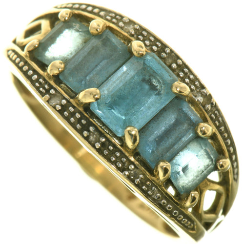 Vintage Gemstone Gold Ring 33381
