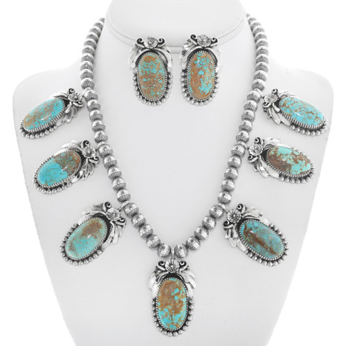Number 8 Turquoise Navajo Necklace Set 29865