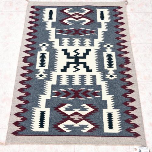 Vintage Navajo Storm Pattern Rug 33389