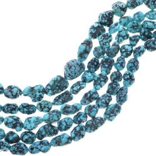 Natural Spiderweb Turquoise Beads 33408