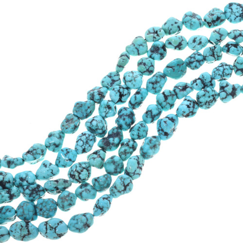 Natural Campitos Spiderweb Turquoise Nuggets 33410