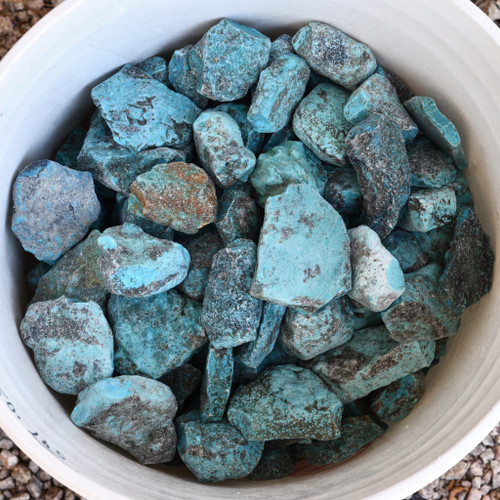 Kingman Turquoise Rough Nuggets 33419