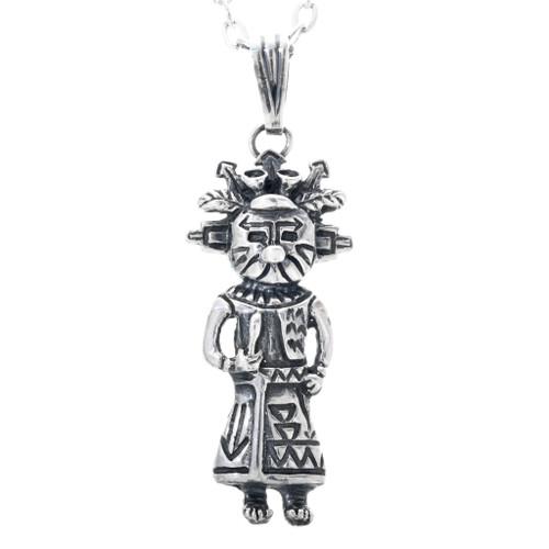 Navajo Silver Kachina Pendant 33597