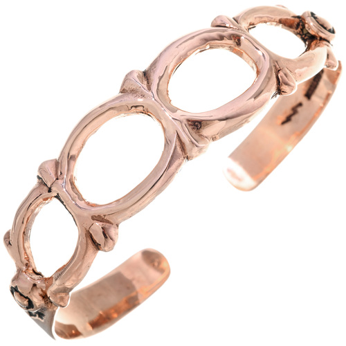Native American Copper Cuff Openwork Bracelet 33605