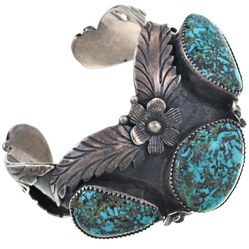 Old Pawn Bisbee Turquoise Silver Cuff 33630