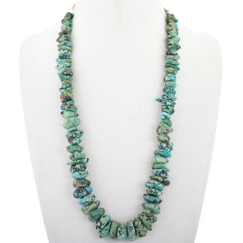 Old Pawn Fox Turquoise Nugget Necklace 33637