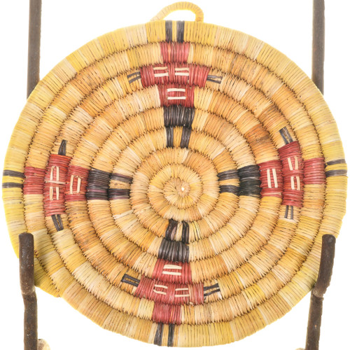 Small Vintage Hopi Kachina Coiled Wall Plaque 33647