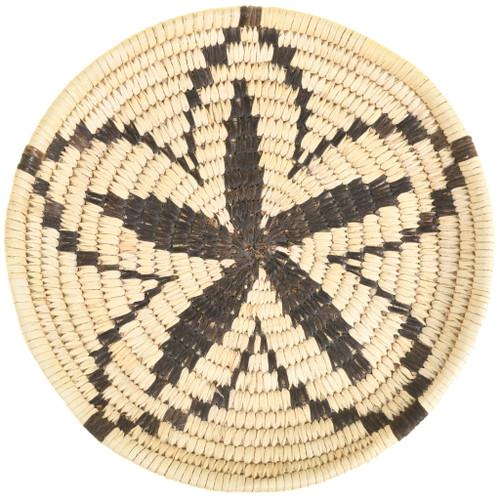 Star Flower Pattern Papago Indian Tray Basket 33661
