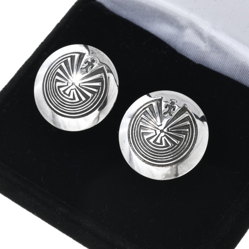 Man in the Maze Silver Cuff Links 33670