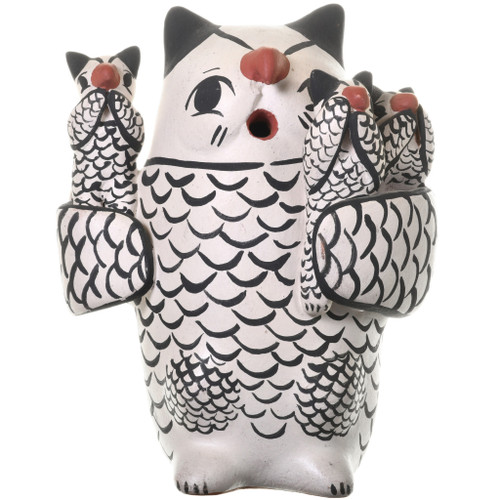 Vintage Cochiti Owl Storyteller Pottery 33678