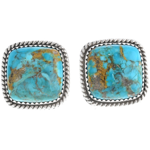 Genuine Navajo Turquoise Post Earrings 33687