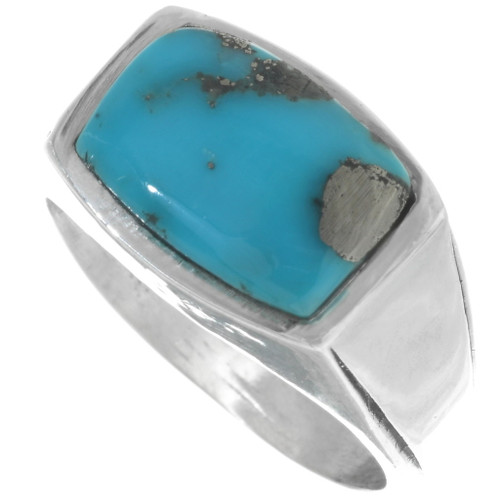 Navajo Turquoise Silver Ring 33814