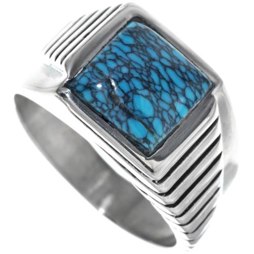 Modern Turquoise Mens Ring 33840