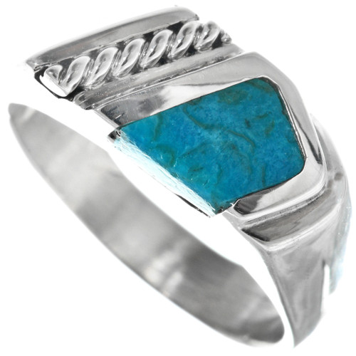 Navajo Turquoise Silver Ring 33843