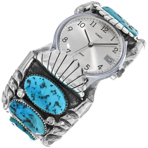 Sleeping Beauty Turquoise Watch Cuff 33852