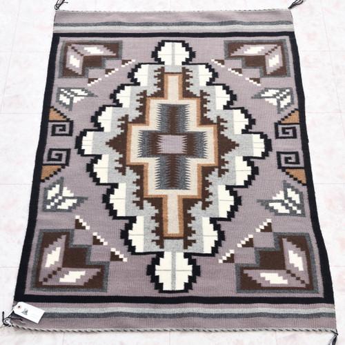 Navajo Two Grey Hills Wool Rug 33861