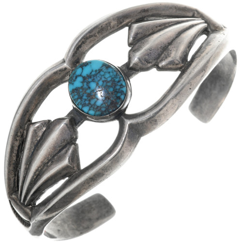 Old Pawn Navajo Turquoise Silver Cuff 33884