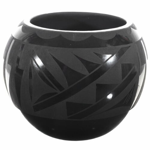 Vintage Santa Clara Blackware Bowl 33895