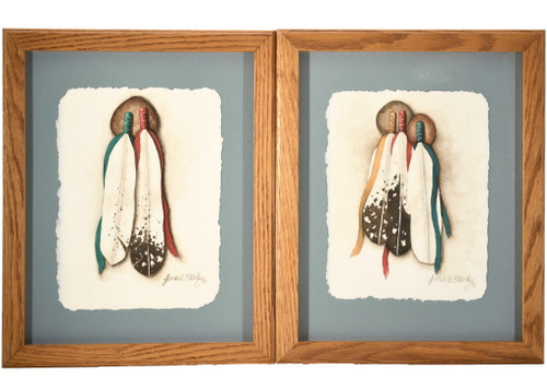Sioux Feathers Original Watercolor Paintings