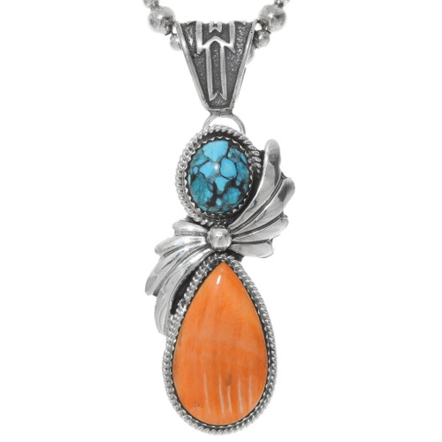 Natural Turquoise Spiny Oyster Pendant 27313