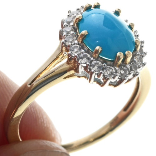 Turquoise Gold Ring 33980