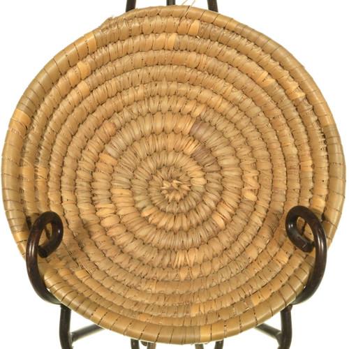 Vintage Sweetgrass Hand Coiled Basket 33990