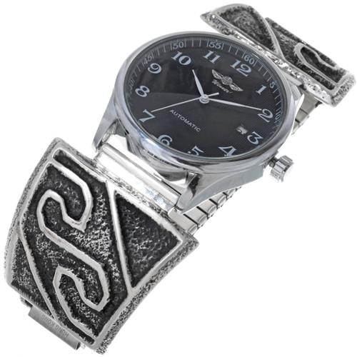 Vintage Navajo Sterling Silver Watch 33993