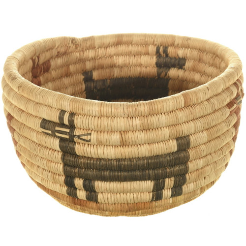 Authentic Hopi Polychrome Basket Bowl 34004
