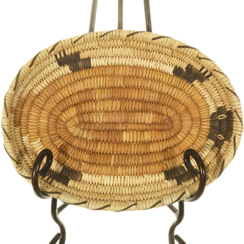 Vintage Papago Turtle Tray Basket 34006