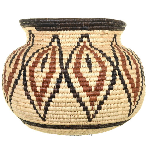 Native American Hand Woven Bowl Basket 34029