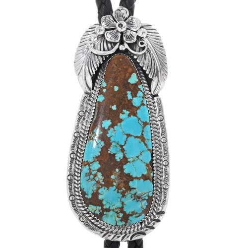 Navajo Turquoise Bolo Tie 25484