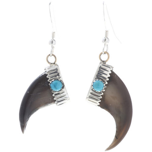 Bear Claw Turquoise Earrings 34071