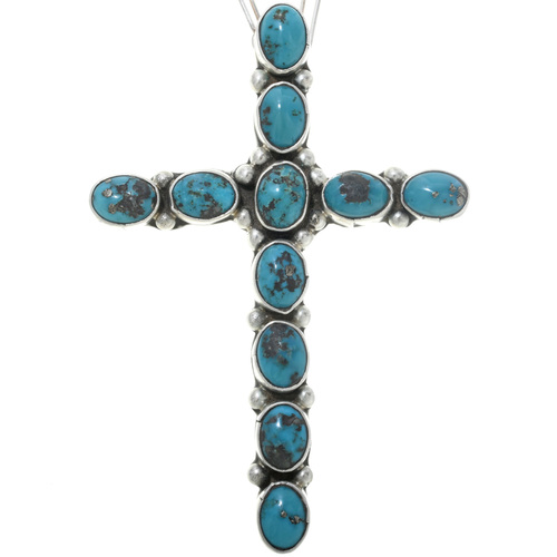 Old Pawn Turquoise Cross Pendant 34075