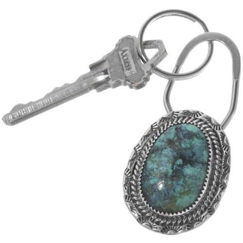 Navajo Turquoise Key Ring 34117