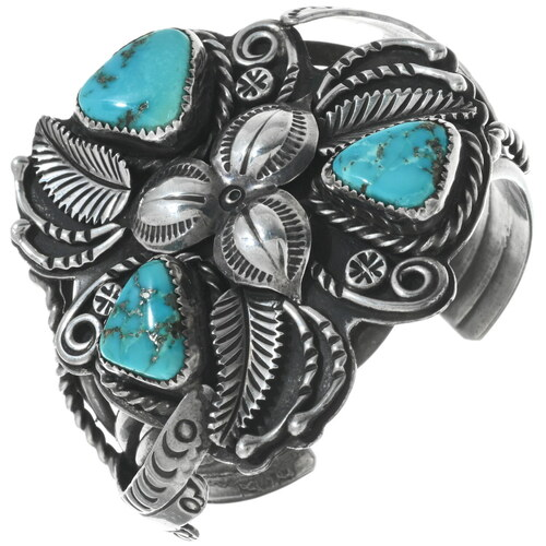 Old Pawn Morenci Turquoise Bracelet 34140